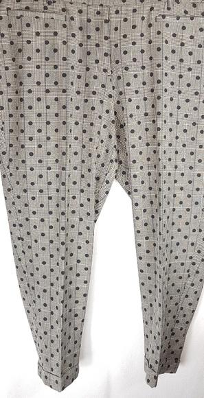 NWT Plus 28 ~THE MODERNIST LENA Curvy Fit Polkadot Ankle Pants LANE BRYANT ~NEW